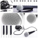 Mikrofoncollage Stockbilder