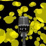 Mikrofonen och tänder shower Mic Concert Performance Or Music Sho Arkivbilder