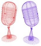 mikrofoner stock illustrationer
