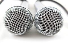 mikrofoner två Fotografering för Bildbyråer