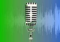 mikrofonpulswaves royaltyfri illustrationer