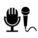 Mikrofonsymbol Royaltyfri Bild