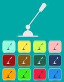 Mikrofonsymbol med färgvariationer, vektor Arkivfoto