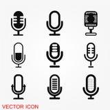 Mikrofonsymbolsvektor Royaltyfri Fotografi