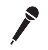 Mikrofonsymbolsvektor Arkivfoto