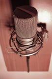 mikrofontappning arkivfoto