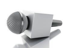 mikrofontv för nyheterna 3d begreppet märker många nyheterna det paper ordet Royaltyfri Fotografi