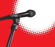mikrofonu światło reflektorów Zdjęcie Stock