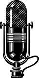 2 mikrofonu ilustracji