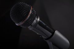 Mikrofonu close-up Zdjęcia Royalty Free