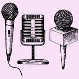 Mikrofonu karaoke Zdjęcia Stock