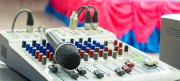Mikrofonu karaoke pokój Obrazy Royalty Free