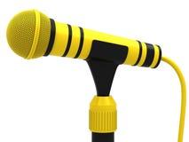 mikrofonu kolor żółty Zdjęcia Royalty Free