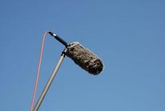 mikrofonu ochraniacza flinty wiatr zdjęcie stock