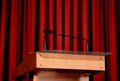 mikrofonu podium obraz royalty free