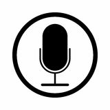 Mikrofonu szyldowy wektorowy projekt Fotografia Royalty Free