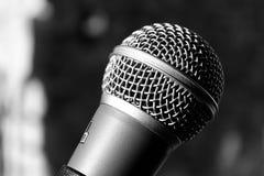 Mikrofonu up zamknięty Fotografia Royalty Free
