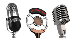 mikrofony Obraz Royalty Free