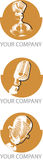 mikrofony logo Obrazy Royalty Free