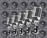 mikrofony mówcy royalty ilustracja