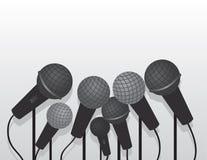 Mikrofony Wieloskładnikowi royalty ilustracja