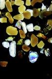 Mikrofotografi av sandkorn Arkivfoto