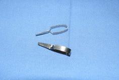 Mikrogefäßrohrschellen der medizinischen Instrumente Stockbild