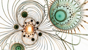 mikrokosmos Żywe komórki pod mikroskopem Zdjęcia Royalty Free