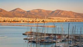 Mikrolimano,雅典。 库存照片