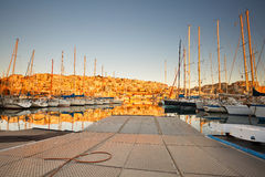 Mikrolimano marina in Athens. Stock Photos