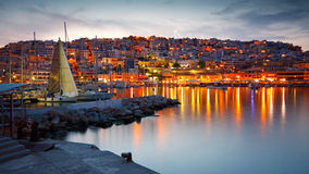 Mikrolimano marina i Piraeus, Aten royaltyfri bild