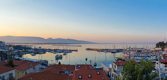 Mikrolimano på Piraeus arkivbild