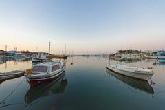 Mikrolimano på Piraeus arkivfoton