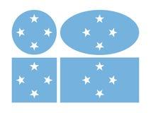 Mikronesien-Flagge - bestanden aus Tausenden der kleinen Inseln im Westpazifischen ozean vektor abbildung