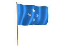 Mikronesien-Seidemarkierungsfahne lizenzfreie abbildung