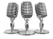 Mikrophone (Beschneidungspfad eingeschlossen) Lizenzfreie Abbildung