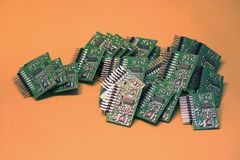mikroprocesory Zdjęcie Stock