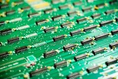 mikroprocesory nachylający Fotografia Royalty Free