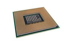 Mikroprozessor für moderne Computer und Laptops, lokalisiert auf weißem Hintergrund Lizenzfreie Stockbilder