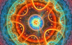Mikroraum: Fractalhintergrund Stockbilder