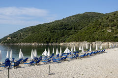 Mikros Gialos, Leucade, îles ioniennes Images libres de droits