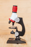 Mikroskop arbetshjälpmedel Arkivfoto