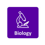 Mikroskop ikona dla sieci i wiszącej ozdoby Obrazy Stock