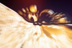 Mikroskopisches phot mit Organismen und abstrakten Formen Stockbild