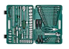 mikrotelefonów narzędzia Wiele wyrwanie i narzędzia zakończenie w pudełku dla Obrazy Royalty Free