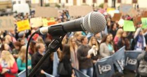 Mikrotelefon på etappen lager videofilmer