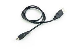 Mikrousb-kabel Fotografering för Bildbyråer