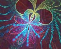 Mikroutrymme affisch för fractal för bakgrundskortdesign god Arkivfoto