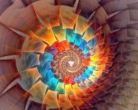 Mikrovitt utrymme affisch för fractal för bakgrundskortdesign god Royaltyfri Foto