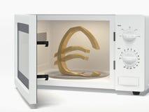 Mikrowelle mit Eurozeichen stock abbildung